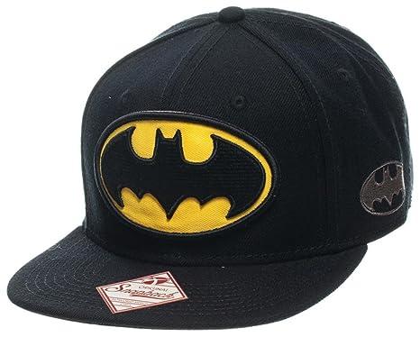 on sale e342d ea6b1 Image Unavailable. Image not available for. Color  Batman - Logo Black Snapback  Hat Size ONE SIZE