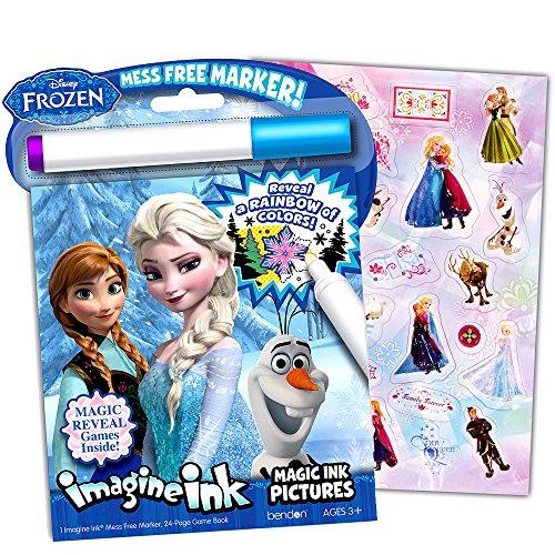 Disney Frozen Imagine Ink Book And Frozen Sticker Pack Set