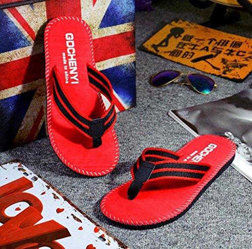 Flip Summer morecome Slipper Men Sandals Shoes Flops Red Male R1AHqwA