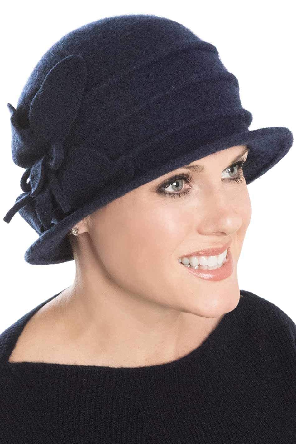 Headcovers Unlimited Wool Ireland Cloche Hat for Women - Winter Cancer    Chemo Hat Ireland - Black at Amazon Women s Clothing store  d18bc32e354