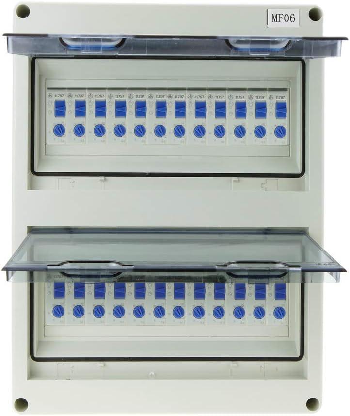 BeMatik Bo/îte de Distribution /électrique de 24 modules Surface en Plastique ABS IP65 SPN HT