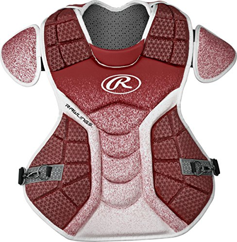Rawlings Sporting Goods Catchers Velo Series Intermediate Chest Protector, 15.5'', Cardinal/White by Rawlings