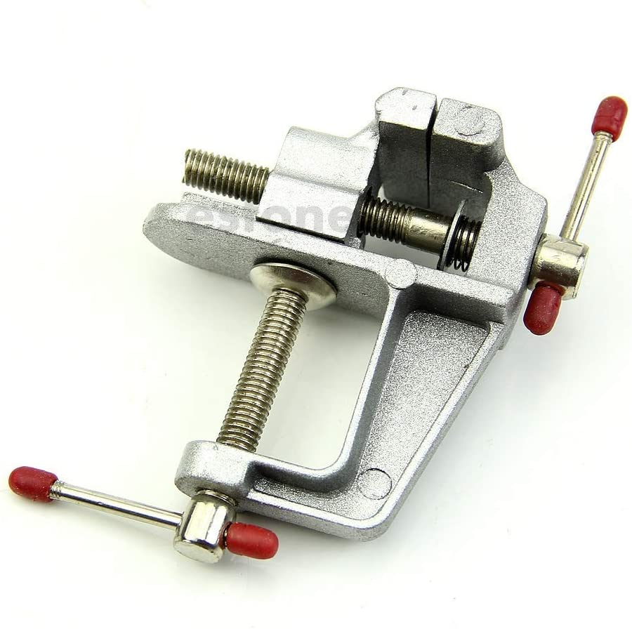 Fulok Easy Durable 3.5 Aluminum Jewelers Hobby Clamp On Table Bench Vise Vice Tool Screws