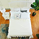 Oasis 100% Hemp Brief Natural Style Bedding Sheet, Better Absorbability, Comfortable, Breathable and Cool Sheet, Cream - 7112