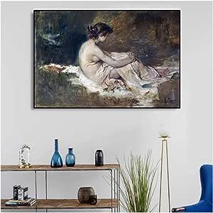 Compre 5 Paneles Pintados A Mano Pintura Al Óleo Abstracta Moderna Sobre Lienzo Mujeres Desnudas