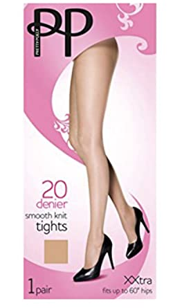 6925a0983e6a Pretty Polly 3 Pair Pack Mink 20 Denier Smooth Knit Tights 2 sizes:  Amazon.co.uk: Clothing