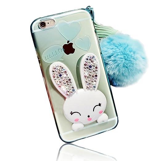4 opinioni per Sunroyal® iPhone 4 4S Cover 3D Lovely Coniglio Custodia in Silicone Foldable