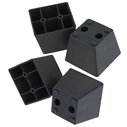 Etonnant RDEXP Black Plastic Trapezoid Sofa Couch Furniture Legs Feet Pack Of 4  (Type 4)