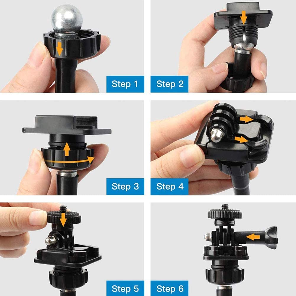 Brio 4K C925e,C615,GoPro Hero 8//7//6//5 C922x,C922 25 Inch Webcam Stand,VARIPOWDER Flexible Jaws Clamp Clip Mount Holder Compatible for Logitech Webcam C930e,C930,C920