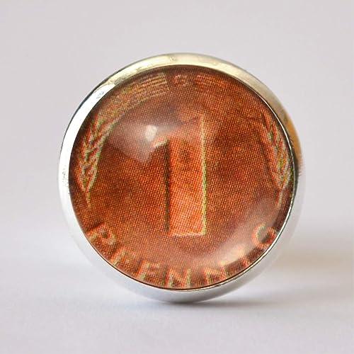 Pfennig Münze Glückspfennig Pin Brosche Anstecknadel: Amazon