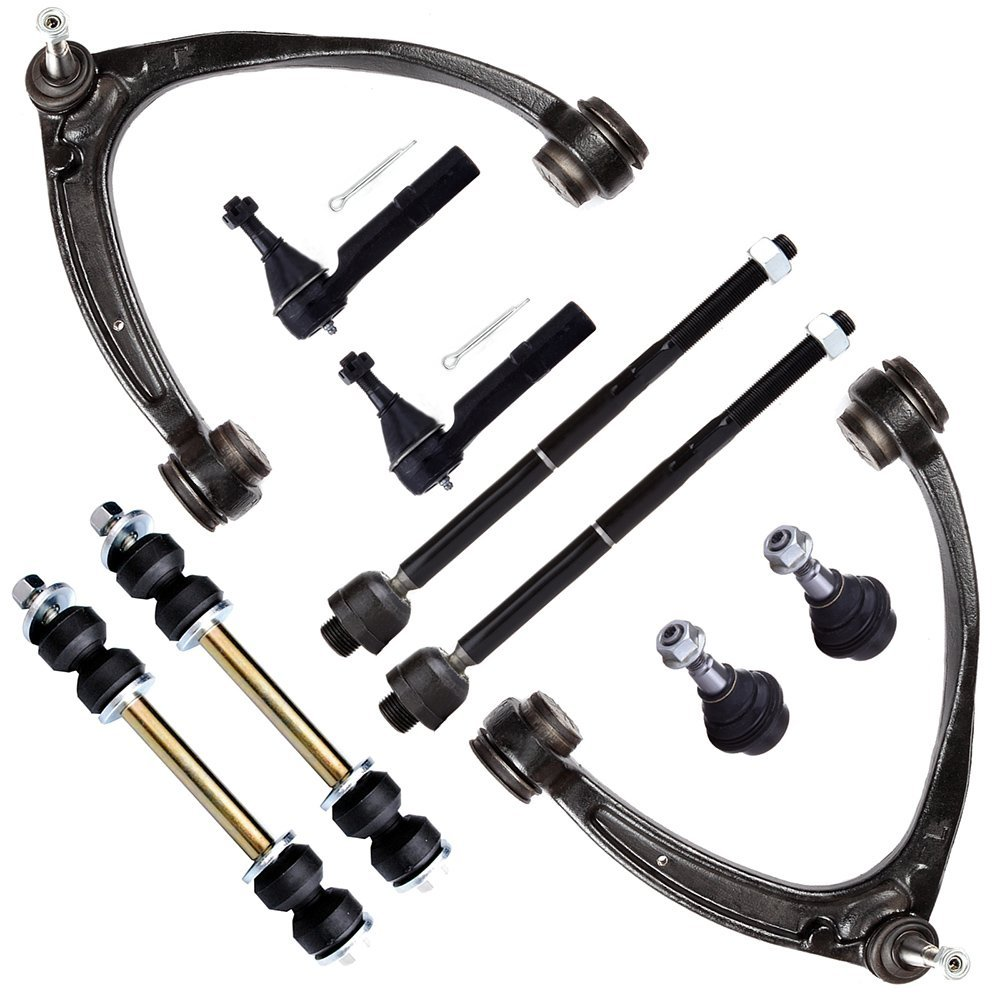 SCITOO 10pcs Suspension Kit 2 Upper Control Arm 2 Front Sway Bar Links 2 Inner 2 Outer Tie Rod Ends 2 Lower Ball Joints fit CHEVROLET SUBURBAN 1500 2007-2013 CHEVROLET TAHOE 2007-2014 K6541 810897-5206-0927571215