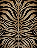 Home Dynamix HD5388-457 Tribeca Fawn Modern Area Rug, 5'2'x7'2', Animal Stripe