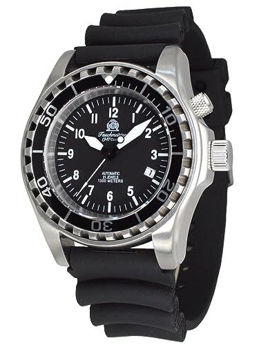 Automatik Taucher Uhr mit Spahirglas und Heliumventil T0287