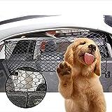 ペット用 車内用防護ネット Imikoko ドライブ セーフティーネット 後部座席 仕切り 装着簡単 (47.2*27.5inch ブラック)