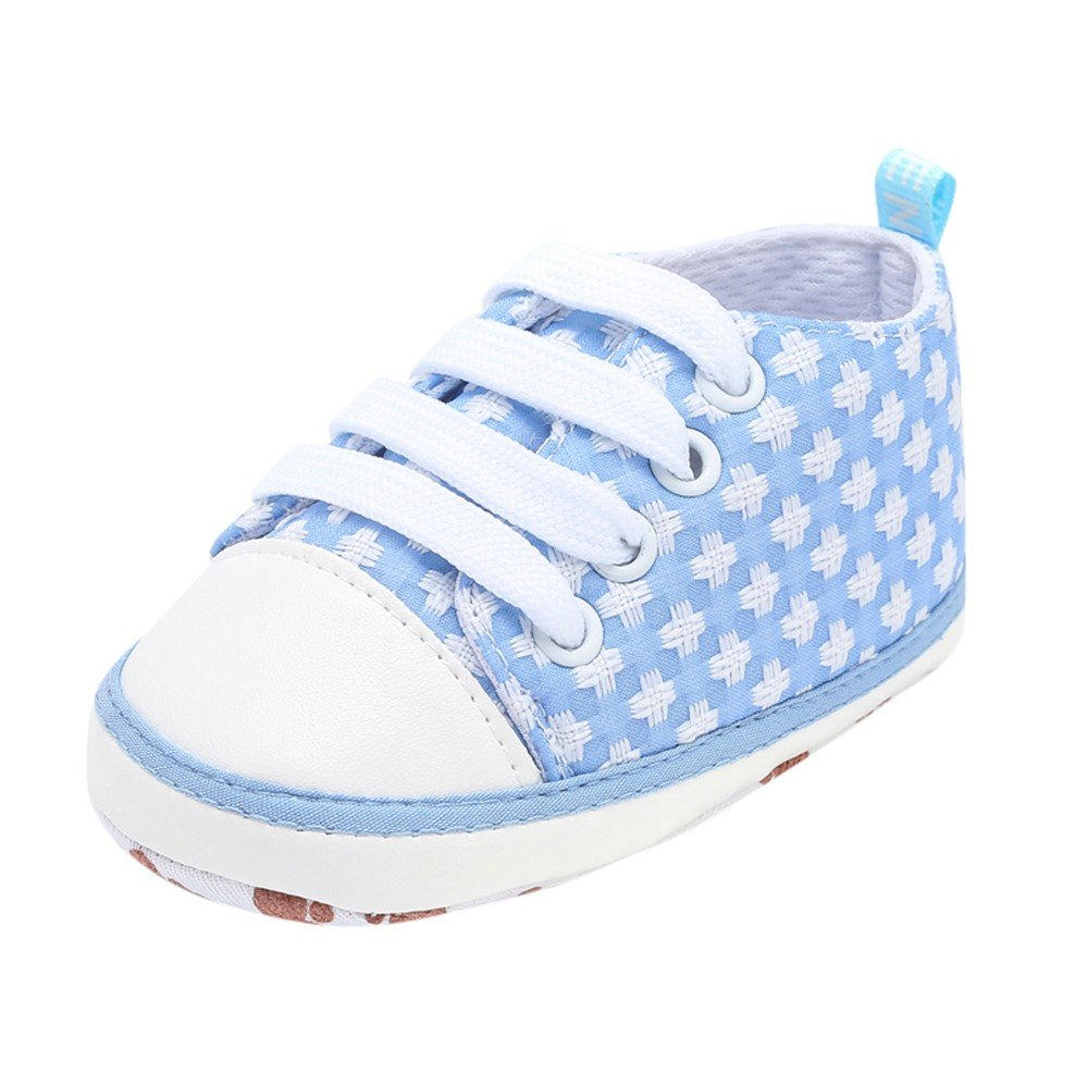 HOSOME Baby Casual Shoes Newborn Toddler Solid Soft Sole Shoes Blue