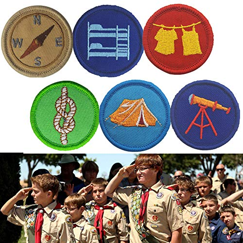 - Gbell Cool Boy Scout Tactical Patch Flag Magic Stickers Badge Decoration for American Boys (E)