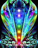 Chakra Art, Rainbow Wall Decor, Meditation Room Original Art Print, ''Emergence''