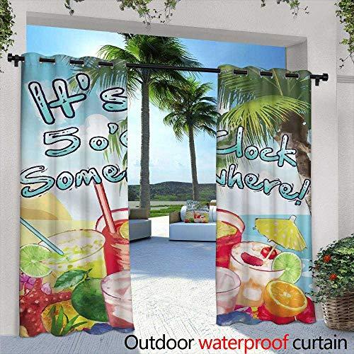 Lightly Patio Curtains,Striped Seamless Pattern Floral Wallpaper,W96 x L96 Outdoor Curtain Waterproof Rustproof Grommet Drape