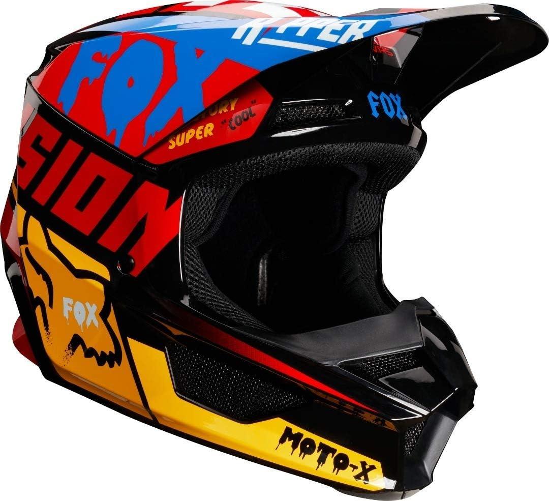 L FOX Unisexs V-1 Czar Helmet Black//Yellow