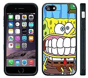 Apple iPhone 6 Black Rubber Silicone Case - Sponge Bob Square Pants Spongebob Squarepants