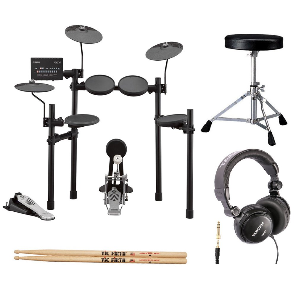 Yamaha DTX452K Electronic Drum Set with Drum Throne, Drumsticks and Stereo Headphones