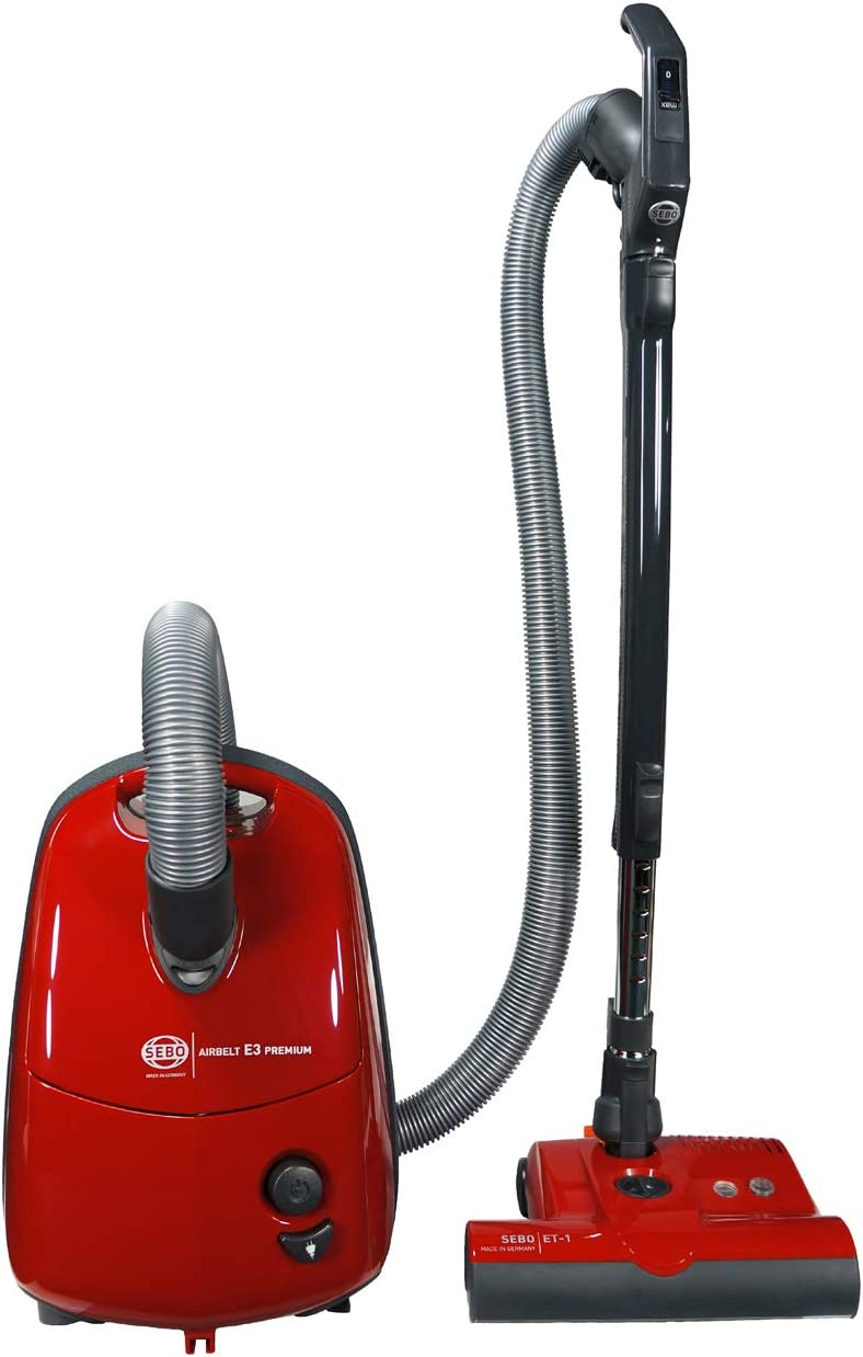 Sebo 91642AM Airbelt E3 Turbo Canister Vacuum (Red)