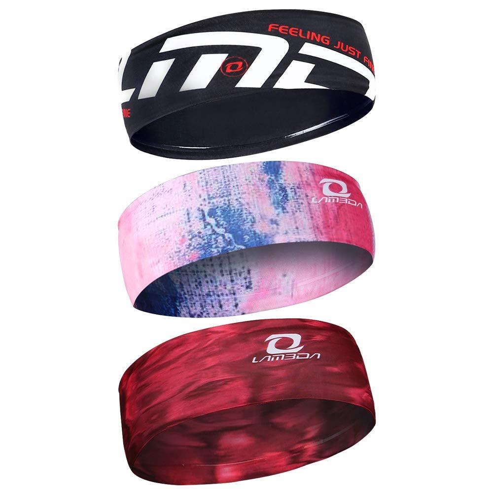 LAMEDA Sports Headbands Outdoor Fitness Sweatband Running Yoga Gym Lightweight Non Slip Breathable Moisture Wicking