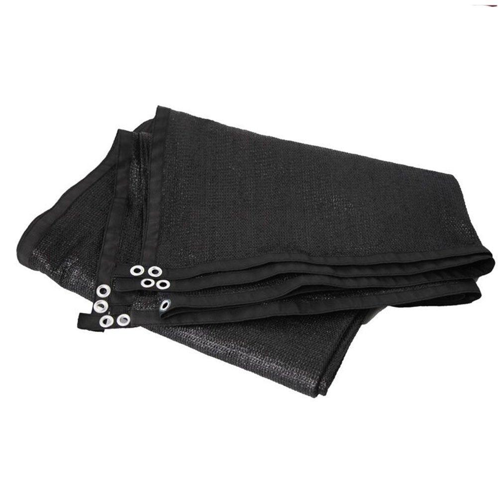 AJZGF Regenschutz Wasserdicht Shade Net, Sonnen Isolierung Dicker Infill Hofterrasse Dach Schatten Schattierung Netzwerk (Farbe   schwarz, größe   6x6m)