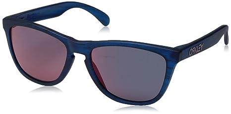 Oakley Frogskins Gafas de sol, Matte Blue Woodgrain, 55 para ...