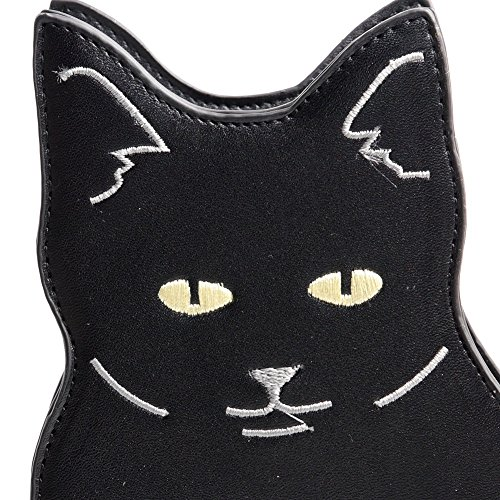 Purse Unique Chain Cat Crossbody Kitten Viviesta Women's Bag Animal Black Novelty nxwRz1SaqO