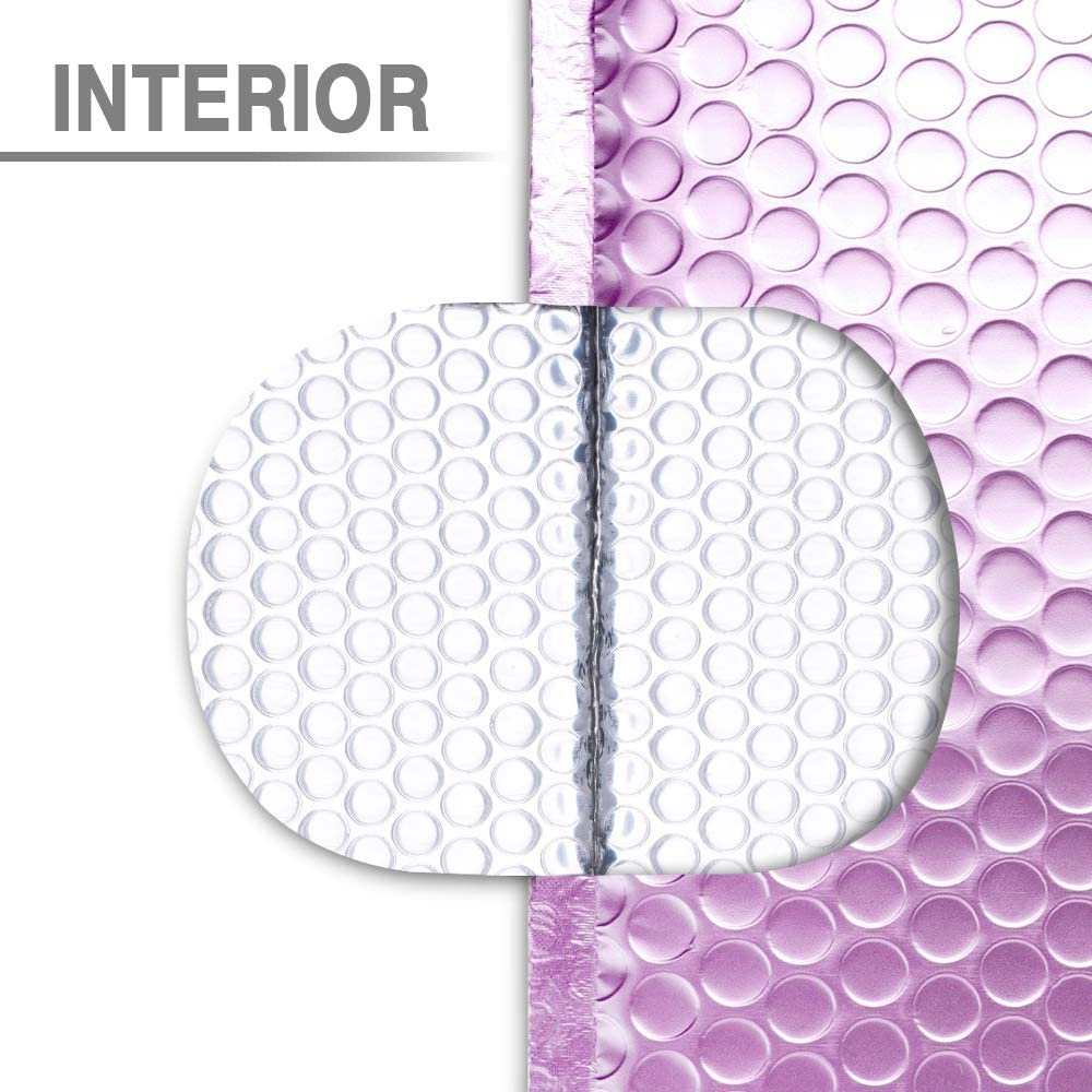 Fu Global #0 Lilac Purple Metallic Bubble Mailers 6x10 Self Seal CD Padded Envelopes Pack of 25 Lilac Purple