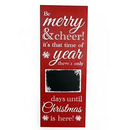 christmas countdown sign 79 x 30cm redwhite - Christmas Countdown Sign