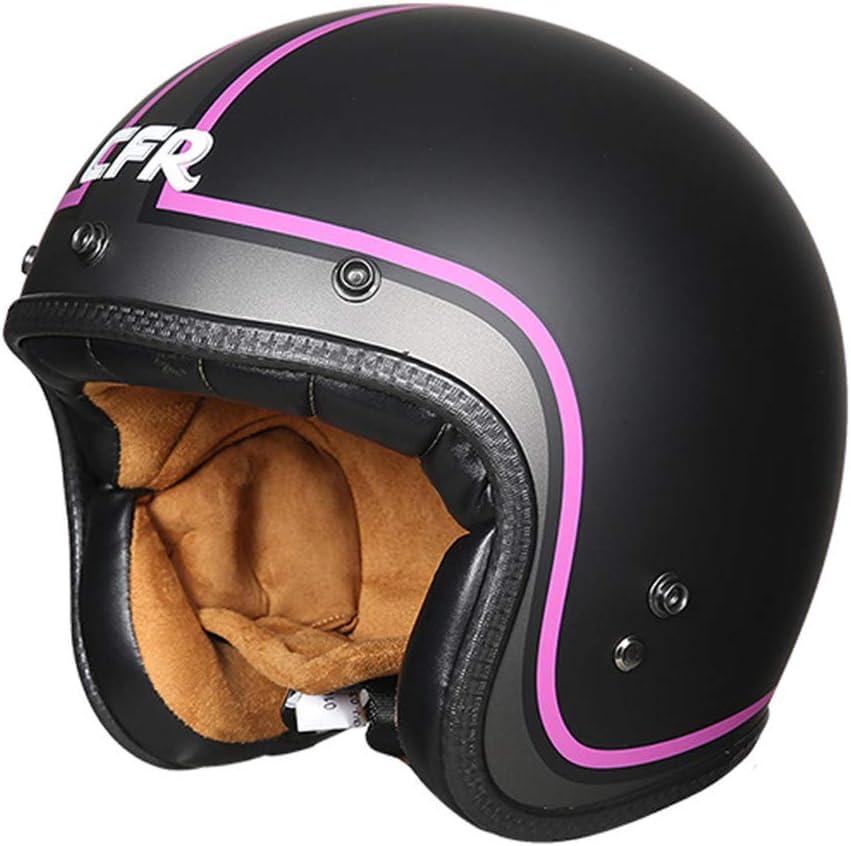 Certificaci/ón Retro piloto Casco de la Motocicleta del Crucero de Dot for Vespa Medio Casco Casco for Hombres y Mujeres Casco de Moto Cascos Abiertos Half Helmet Medio Casco de Motocicleta