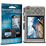 "ONX3 Crystal Clear Premium LCD Screen Protectors Packs With Polishing Cloth & Application Card For 3.0"" Screen Size Sony Cyber-shot DSC-HX60 Digital Camera Pack Of 10 By SmartGlaze"