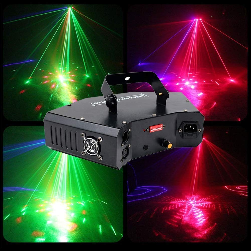 HDZWW Sound Activated Party Lights Dj Lighting RBG Disco Ball Strobe Lamp Par Light for Home Room Dance Parties Birthday DJ Bar Karaoke Xmas Wedding Show Club Pub