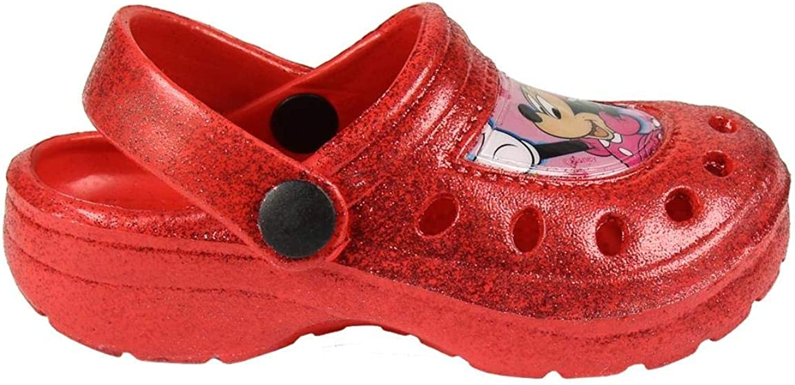 ARTESANIA CERDA Rosso, Numeric/_27 S.L Minnie Ciabatte Zoccoli Glitter da Bambina