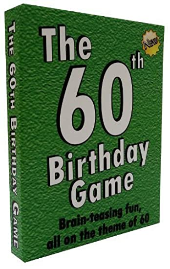 The 60th Birthday Game Fun New Party Idea Also Suitable As
