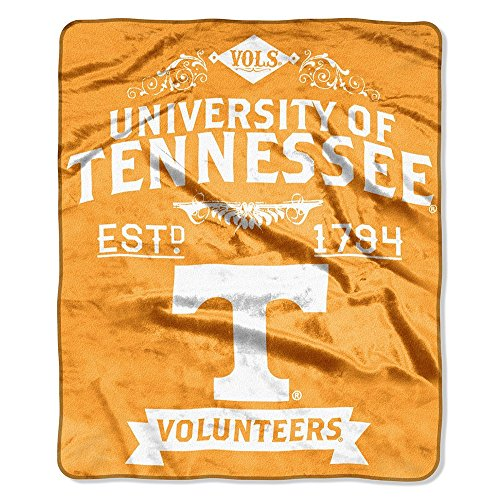 The Northwest Company Officially Licensed NCAA Tennessee Volunteers Label Plush Raschel Throw Blanket, 50