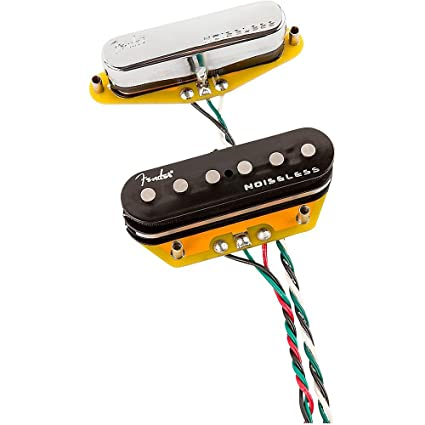 Fender Gen 4 Noiseless Telecaster Pickups Set of 2 Level 2 Black and Chrome  190839141224