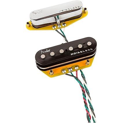 Fender Noiseless Pickups >> Amazon Com Fender Gen 4 Noiseless Telecaster Pickups Set Of 2 Level