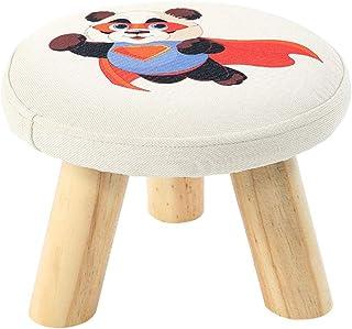 HZB Panchetta Piccola Cambia Panca in Legno Massiccio per Bambini creativi per Adulti Panca per Piccoli divani Panca Rotonda Panca in Legno Panca, Modello Panda