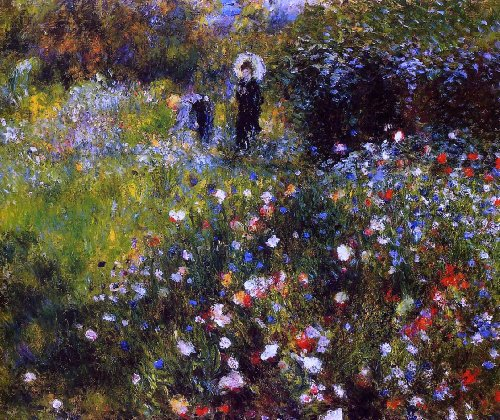 Art Oyster Pierre Auguste Renoir A Summer Landscape (also known as Woman with a Parasol in a Garden) - 16.1