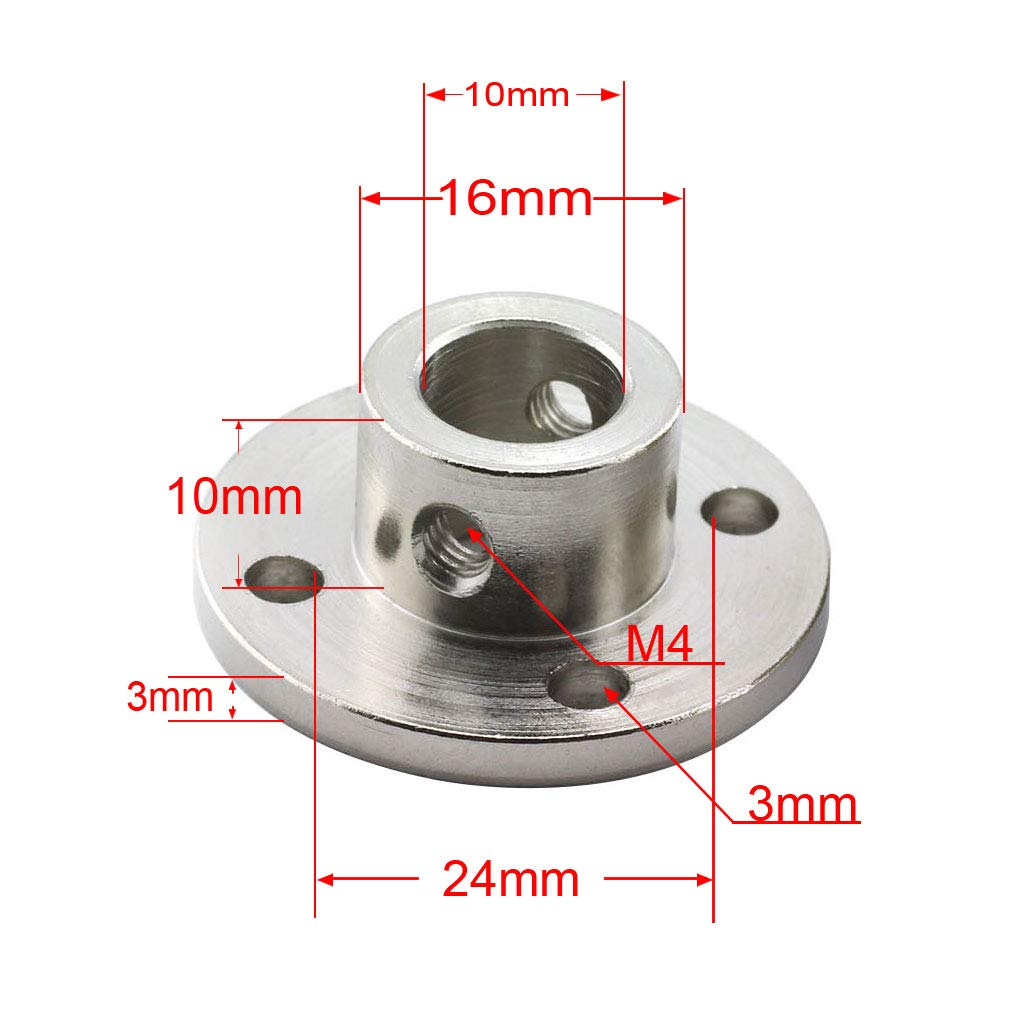 4X M3 Fastening Screw High Hardness Rigid Flanged Joint Shaft Coupler Motor Connector TOTOT 2X 6mm Flange Coupling 1x M3 L Shape Allen Wrench