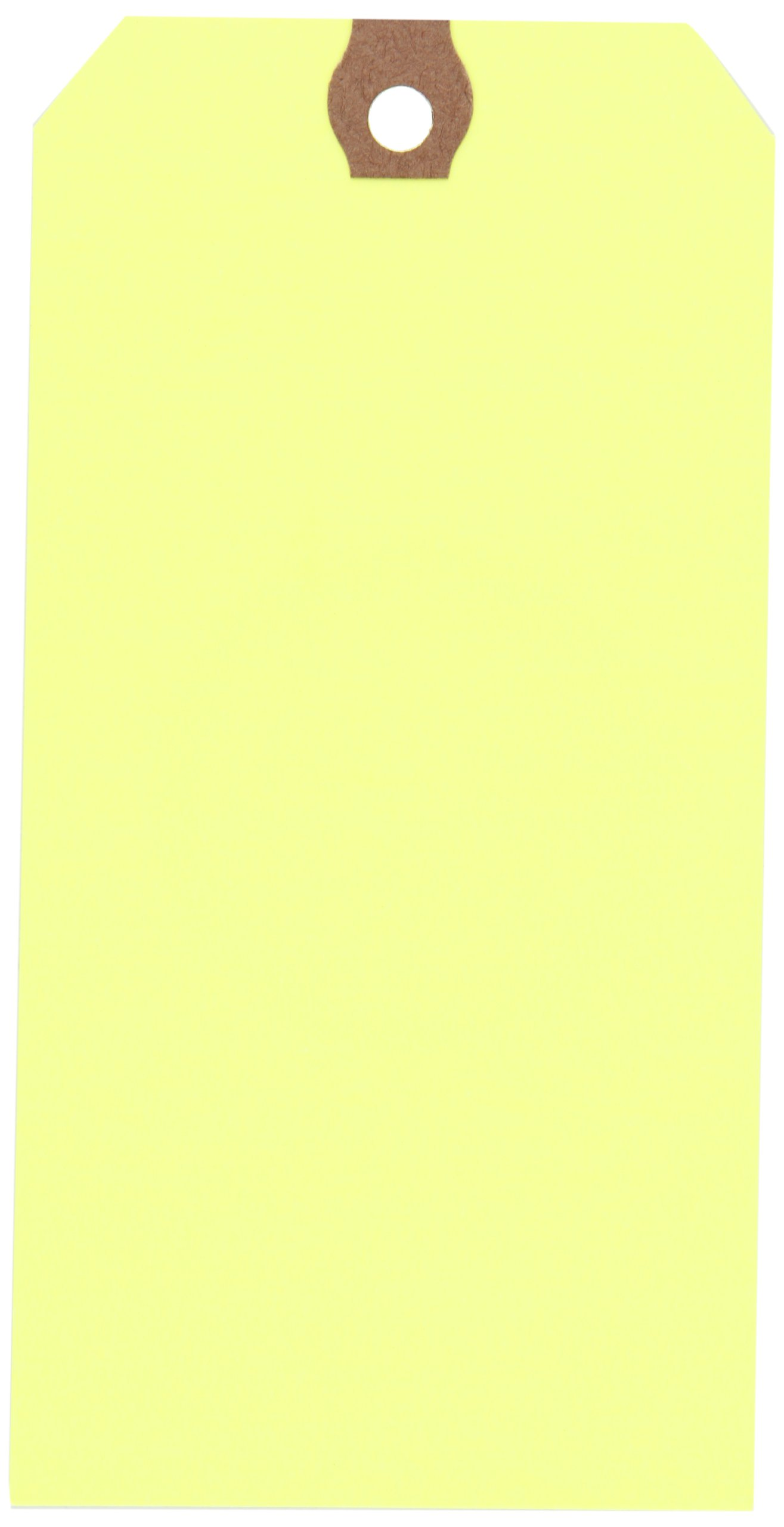 Aviditi 13 Point Cardstock Shipping Tag, 5-3/4'' L x 2-7/8'' W, Fluorescent Yellow, Case of 1000 (G12071A)