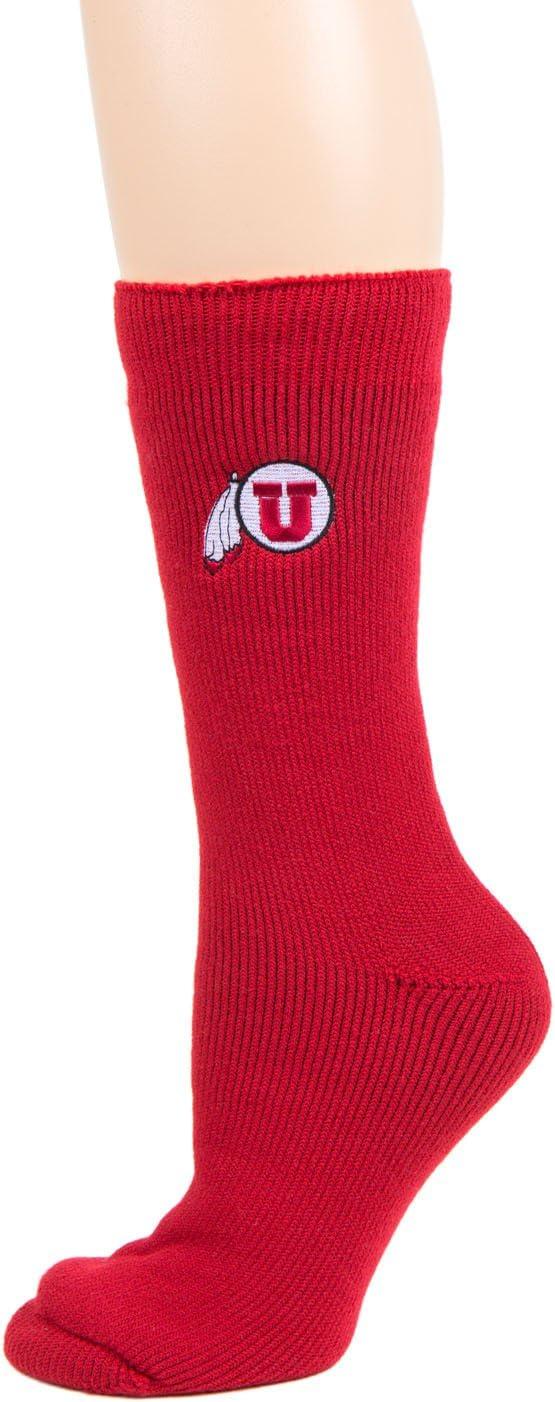 Donegal Bay NCAA Utah Utes Unisex Utah White Sport Sockutah White Sport Sock Red One Size