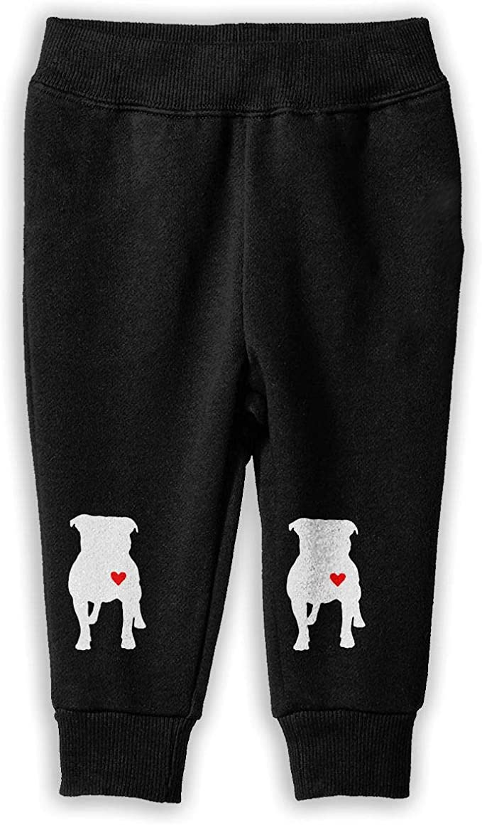 6T Kids Joggers I Love My Pitbull Fashion Sweatpants 2T