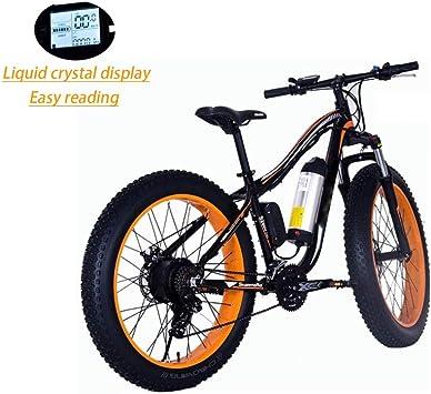 Grasa De Neumáticos De Bicicletas De Montaña Bicicleta De Montaña Eléctrica 250W 26 Pulgadas Bicicleta Eléctrica Con Extraíble 36V / 10.4AH De Iones De Litio Marco De Aluminio Bicicleta Eléctrica: Amazon.es: Hogar
