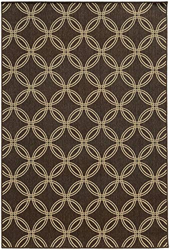 Tommy Bahama Seaside 7.10 X 10.10 Indoor/Outdoor Rug By Oriental Weavers - Brown & Beige (Tommy Outdoor Rugs Bahama)