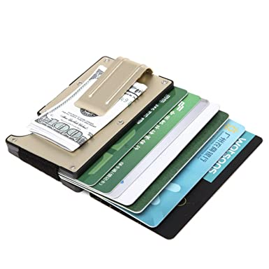 pretty nice 96ac1 2d71e Smart Card Holder Credit Card Holder RFID Money Clip Small Wallet for Men