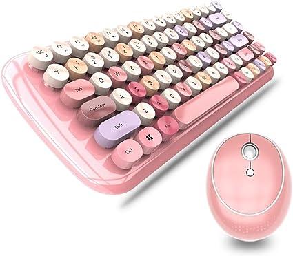 XJRHB teclado inalámbrico y ratón, chica de chocolate en ...